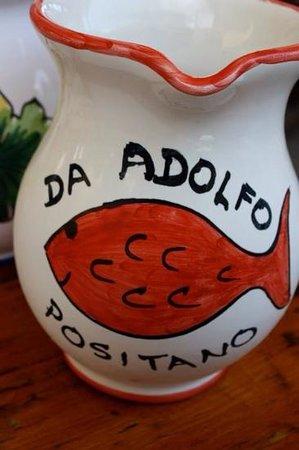Da Adolfo: wine with peaches!