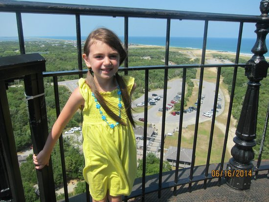Cape Hatteras Lighthouse: my daughter at the top