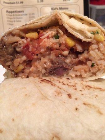 Ray's Burrito Bar : Inside the burrito