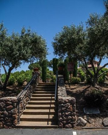 Viansa Winery and Italian Marketplace: Stairs going up to entrance