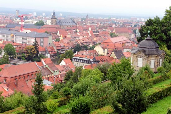 St. Michaelskirche: View from atop St. Michael's in Bamberg, Germany
