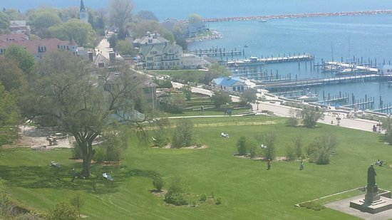 Fort Mackinac Tea Room: View during our lunch.