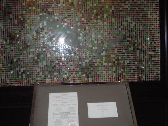 Caretta on the Gulf: Beautiful tile work enhances the menu display at Caretta's entrance