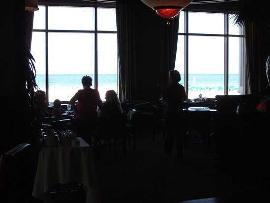 Caretta on the Gulf : Inside is a bit dark in this photo but you can see the beautiful waters beyond the sand
