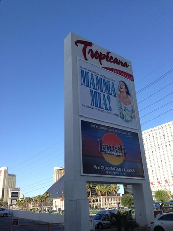 Tropicana Las Vegas - A DoubleTree by Hilton Hotel : Front sign on Las Vegas Blvd