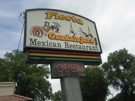 Fiesta Guadalajara of Fruita: Sign out front