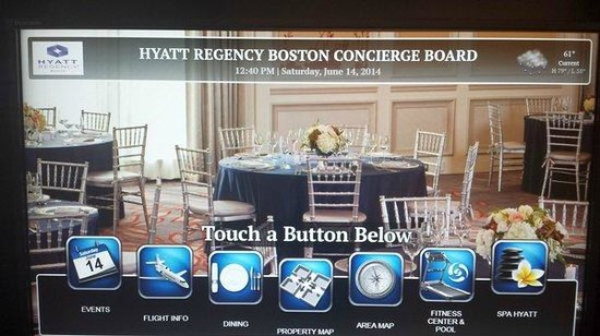 Hyatt Regency Boston : info kiosk