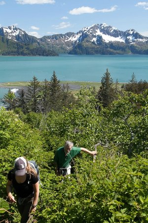Kenai Fjords Glacier Lodge: The great guides taking us up on the Ridgeline hike.