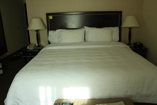 Hampton Inn & Suites Las Vegas South: Comfortable bed. Sparkling clean duvet and bedsheet