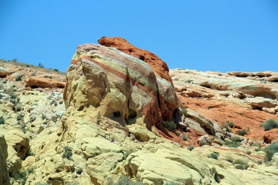 Valley of Fire State Park: You have seen lots of red rock photos here. I am offering you a different photo - multicolour ro