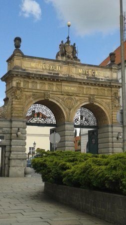 Pilsner Urquell Brewery: the gate from the logo
