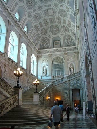 Entry stairs at Palazzo Reale Napoli