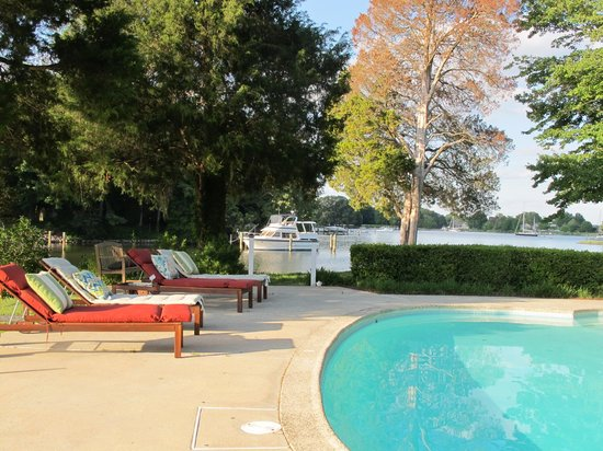 Bay Cottage Bed & Breakfast: Pool time at Bay Cottage