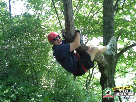Long Point Eco-Adventures: Dad on his Father's Day Zip