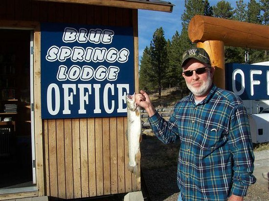 Blue Springs Lodge: Blue Springs Regular with a Small Fish!