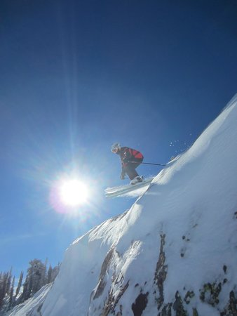 Snowbasin Resort: me going off a cliff