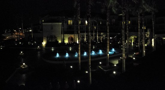 Hyatt Regency Huntington Beach Resort & Spa : Fish pool at night.