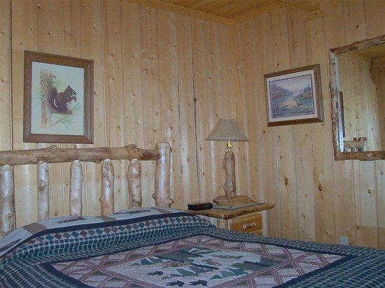 Blue Springs Lodge: Cabin 6 Downstairs Bedroom