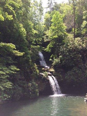 Jocassee Lake Tours: Waterfall