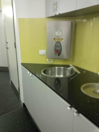 Space Hotel: Water dispenser is available at each floor