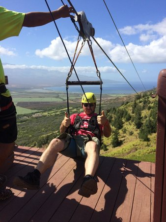Flyin Hawaiian Zipline : Thumbs up!