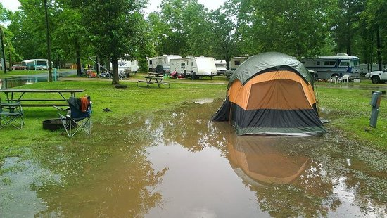 Virginia Beach KOA: Tent Flood