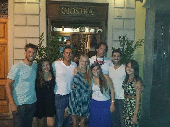 La Giostra : Me and 2 friends, random girls and the owner in the back! Owner is so COOL! Awesome guy