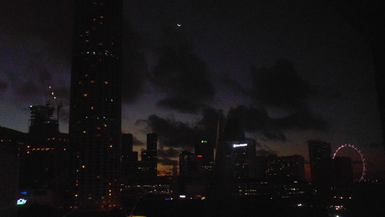 Peninsula Excelsior Hotel: View from Room at Night