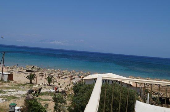 Strofades Beach Hotel: Widok z balkonu