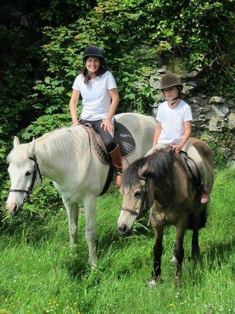 Clarina Equestrian Centre: Mother and daughter enjoying a trek