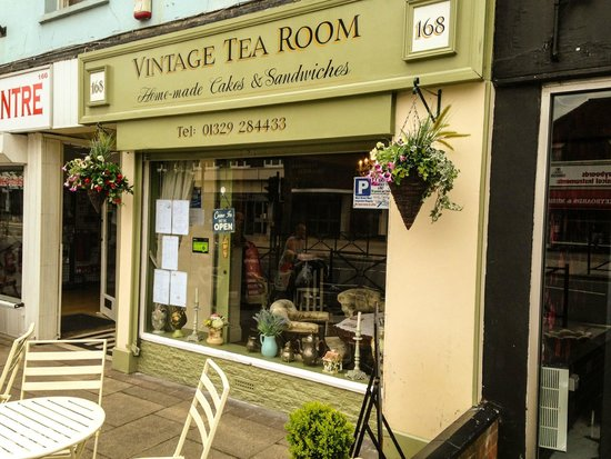 Vintage Tea Room Friendly Exterior