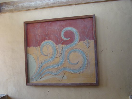 The Palace of Knossos: фреска