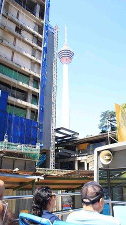 Hop on Hop Off Bus Kuala Lumpur : Top floor