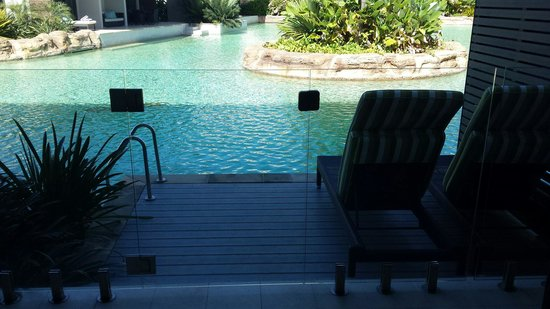 Skycity Darwin: View from our private deck to the pool