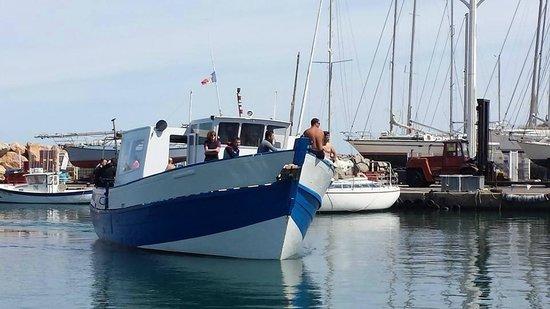 Aquablue plongée: Arrivée au quai...