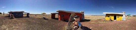 Flintstone's Bedrock City: Panoramic view