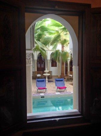 Le jardin d'Abdou: vue de la salle à manger