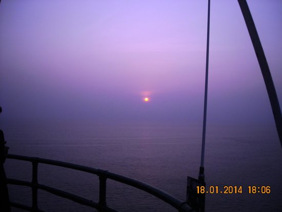 Vizhinjam Lighthouse: Sunset view from the top of Light house