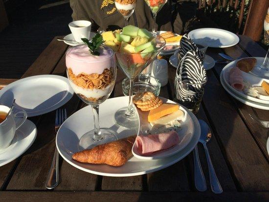 Kololo Game Reserve: Wat een ontbijt!! Heerlijk