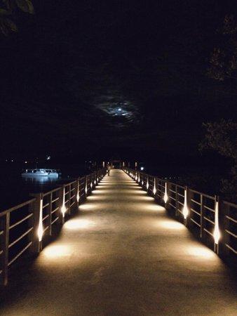 Gaya Island Resort : Night view of the jetty.