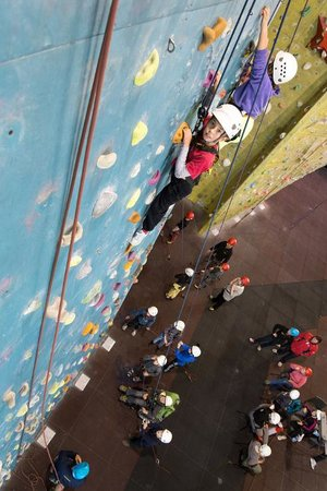 Calshot Activity Centre: The 'Blue slab' is perfect for novice groups