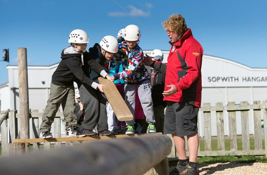 Calshot Activity Centre: The low ropes is fantastic for getting a group working together.
