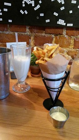 Duckfat: Belgian-style duck fat fries and Maine honey milkshake