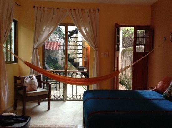 Onze kamer in casa del maya