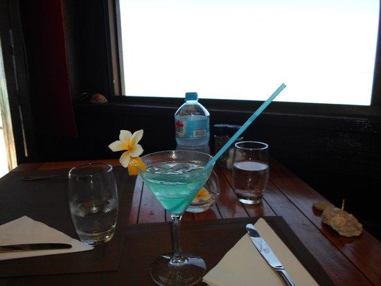 Matira Beach Restaurant : The Blue Lagoon Drink