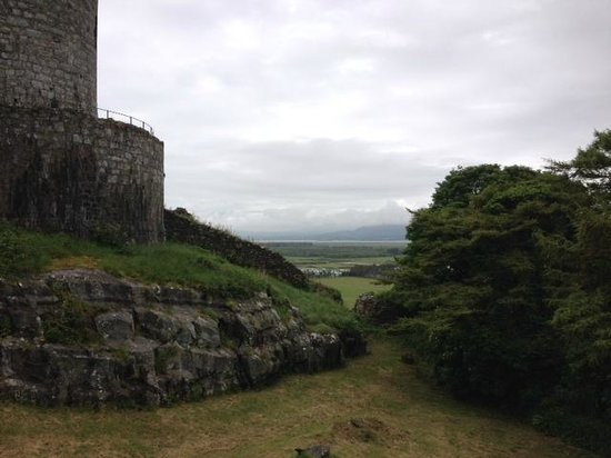 Harlech Castle: View from the shop