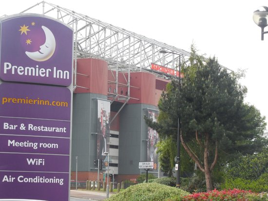 Premier Inn Manchester Old Trafford Hotel : Stadium View from Premier Inn