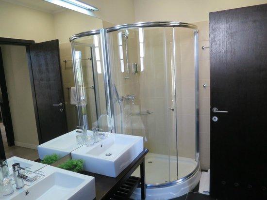 Mercure Belgrade Excelsior: The bathroom in room 201