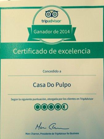 Casa do Pulpo: Gracias a todos !!!!! Thalía you everyone!!!!!
