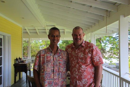 Kalaekilohana: owners Kilo and Kenny  (l>r)